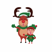 Reindeer and Elf Icon
