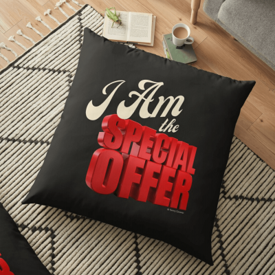 Special Offer, Savvy Cleaner, Funny Cleaning Gifts, Cleaning Floor Pillow