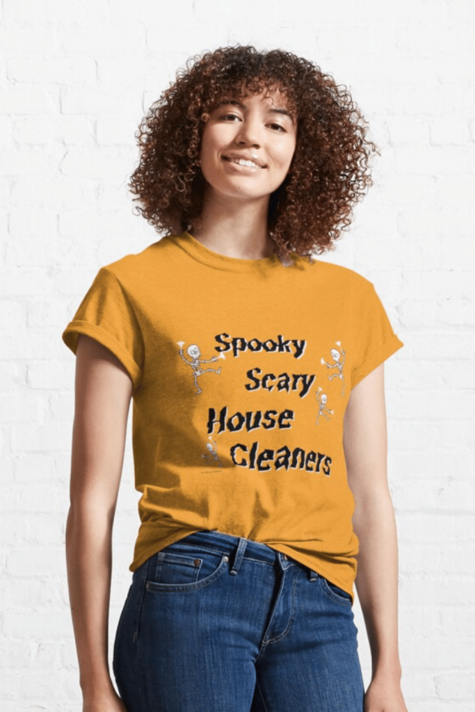 Spooky House Cleaners Savvy Cleaner Funny Cleaning Shirts Classic T-Shirt