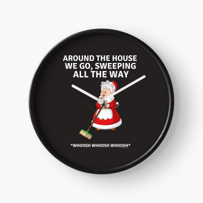 Sweeping All the Way, Savvy Cleaner Funny Cleaning Gifts, Cleaning Clock