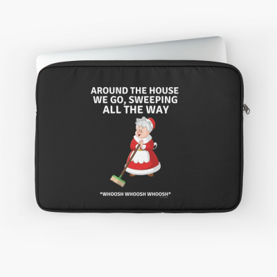 Sweeping All the Way, Savvy Cleaner Funny Cleaning Gifts, Cleaning Laptop Sleeve