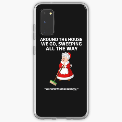 Sweeping All the Way, Savvy Cleaner Funny Cleaning Gifts, Cleaning Samsung Galaxy phone Case