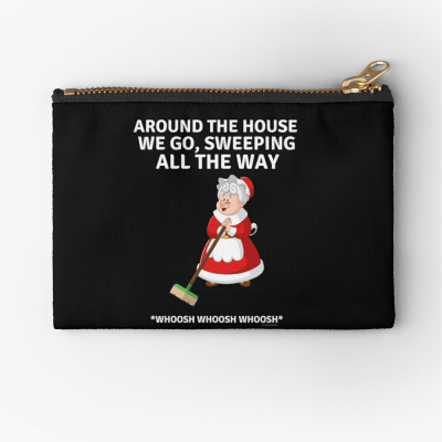 Sweeping All the Way, Savvy Cleaner Funny Cleaning Gifts, Cleaning Zipper Bag
