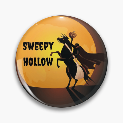 Sweepy Hollow, Savvy Cleaner Funny Cleaning Gifts, Cleaning Button