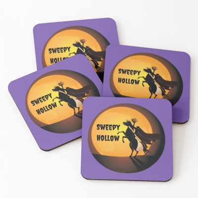 Sweepy Hollow, Savvy Cleaner Funny Cleaning Gifts, Cleaning Coasters