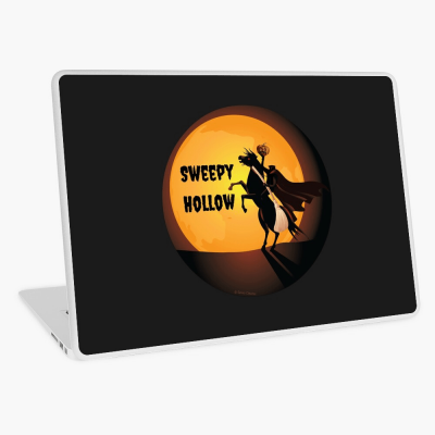 Sweepy Hollow, Savvy Cleaner Funny Cleaning Gifts, Cleaning Laptop Skin