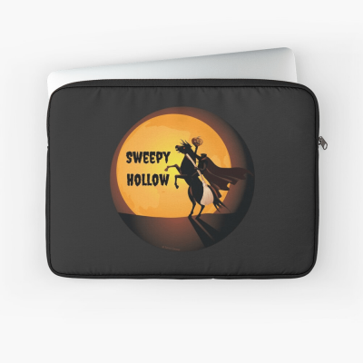 Sweepy Hollow, Savvy Cleaner Funny Cleaning Gifts, Cleaning Laptop Sleeve