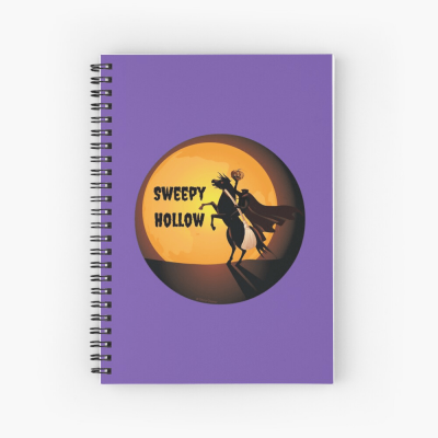 Sweepy Hollow, Savvy Cleaner Funny Cleaning Gifts, Cleaning Spiral Notepad