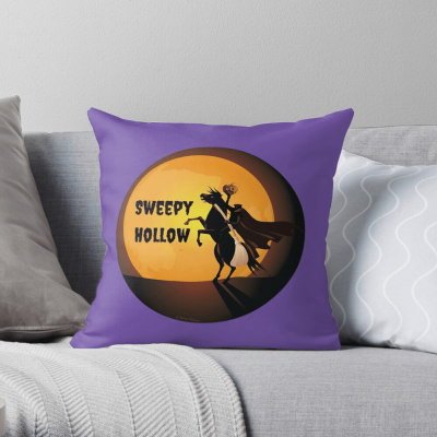 Sweepy Hollow, Savvy Cleaner Funny Cleaning Gifts, Cleaning Throw Pillow