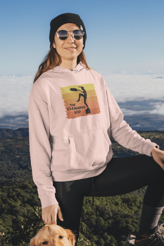 The Cleaning Kid Savvy Cleaner Funny Cleaning Shirts Classic Pullover Hoodie