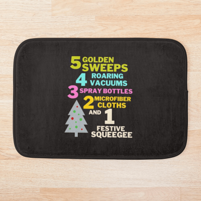 1 Festive Squeegee Savvy Cleaner Funny Cleaning Gifts Bathmat