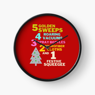 1 Festive Squeegee Savvy Cleaner Funny Cleaning Gifts Clock