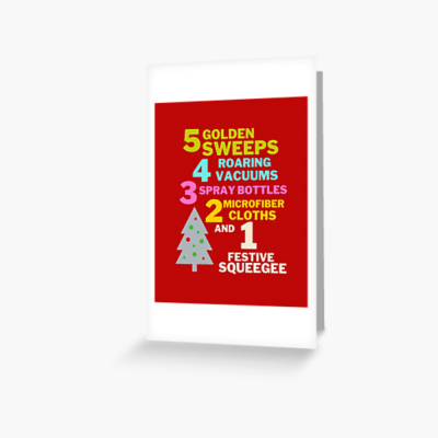 1 Festive Squeegee Savvy Cleaner Funny Cleaning Gifts Greeting Card