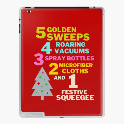1 Festive Squeegee Savvy Cleaner Funny Cleaning Gifts Ipad Case