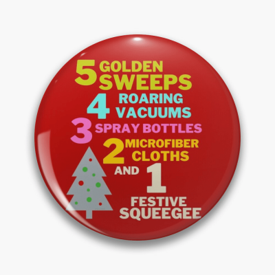 1 Festive Squeegee Savvy Cleaner Funny Cleaning Gifts Pin