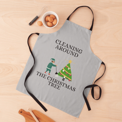 Cleaning Around The Christmas Tree Savvy Cleaner Funny Cleaning Gifts Apron