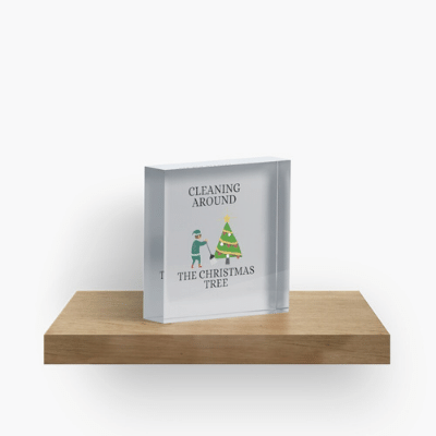 Cleaning Around The Christmas Tree Savvy Cleaner Funny Cleaning Gifts Crazy Cube