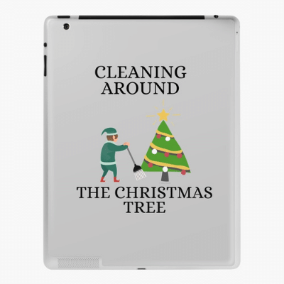 Cleaning Around The Christmas Tree Savvy Cleaner Funny Cleaning Gifts Ipad Case