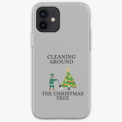 Cleaning Around The Christmas Tree Savvy Cleaner Funny Cleaning Gifts Samsung Phone Case