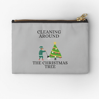 Cleaning Around The Christmas Tree Savvy Cleaner Funny Cleaning Gifts Zipper Bag