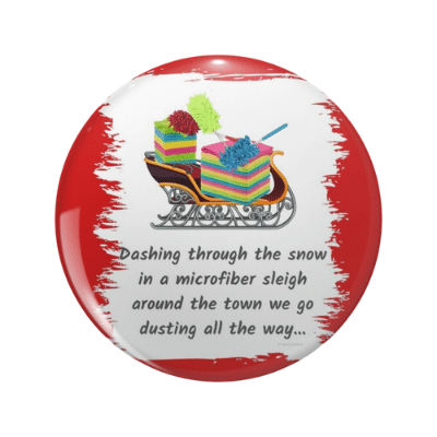 Dusting All The Way Savvy Cleaner Funny Cleaning Gifts Pin2