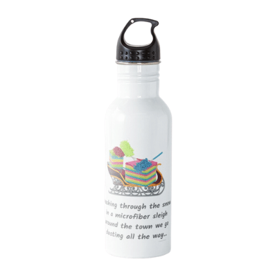 Dusting All The Way Savvy Cleaner Funny Cleaning Gifts Water Bottle2