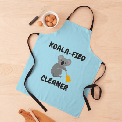 Koalafied Cleaner Savvy Cleaner Funny Cleaning Gifts Apron