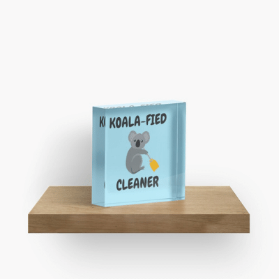 Koalafied Cleaner Savvy Cleaner Funny Cleaning Gifts Crazy Cube