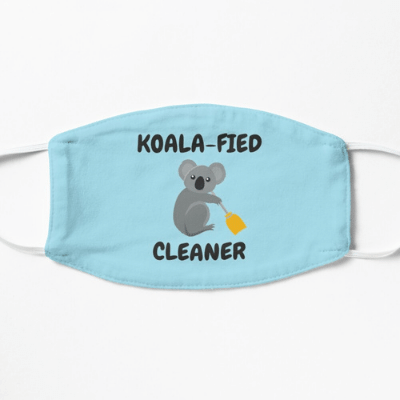 Koalafied Cleaner Savvy Cleaner Funny Cleaning Gifts Face Mask