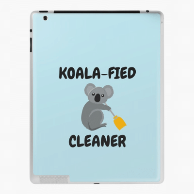 Koalafied Cleaner Savvy Cleaner Funny Cleaning Gifts Ipad Case