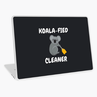 Koalafied Cleaner Savvy Cleaner Funny Cleaning Gifts Laptop Skin