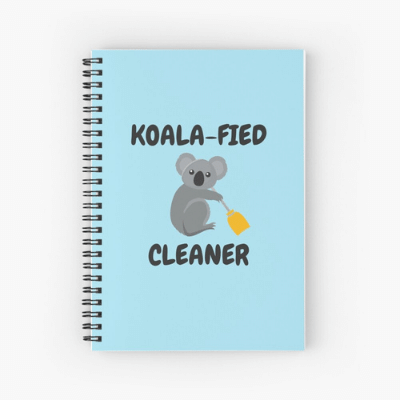 Koalafied Cleaner Savvy Cleaner Funny Cleaning Gifts Spiral Notepad