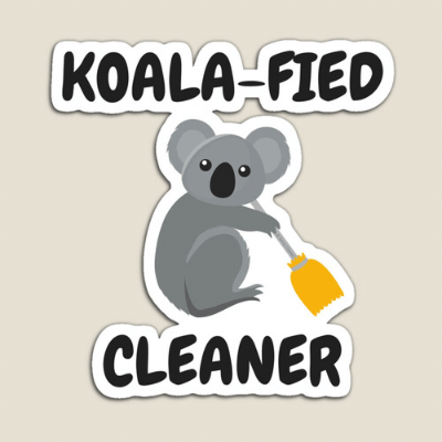 Koalafied Cleaner Savvy Cleaner Funny Cleaning Gifts Sticker