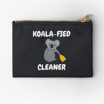 Koalafied Cleaner Savvy Cleaner Funny Cleaning Gifts Zipper Bag
