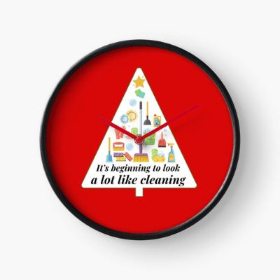 Look A Lot Like Cleaning Savvy Cleaner Funny Cleaning Gifts Clock