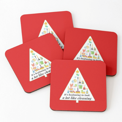 Look A Lot Like Cleaning Savvy Cleaner Funny Cleaning Gifts Coasters