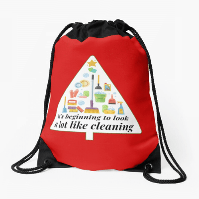Look A Lot Like Cleaning Savvy Cleaner Funny Cleaning Gifts Drawstring Bag