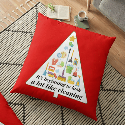 Look A Lot Like Cleaning Savvy Cleaner Funny Cleaning Gifts Floor Pillow