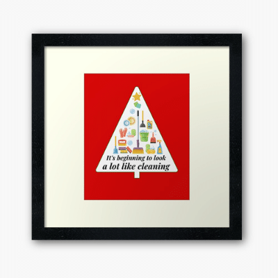 Look A Lot Like Cleaning Savvy Cleaner Funny Cleaning Gifts Framed Art Print