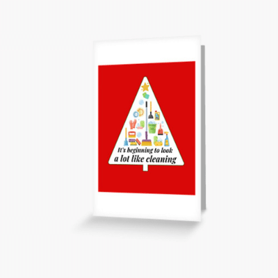 Look A Lot Like Cleaning Savvy Cleaner Funny Cleaning Gifts Greeting Card