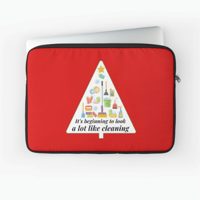 Look A Lot Like Cleaning Savvy Cleaner Funny Cleaning Gifts Laptop Sleeve