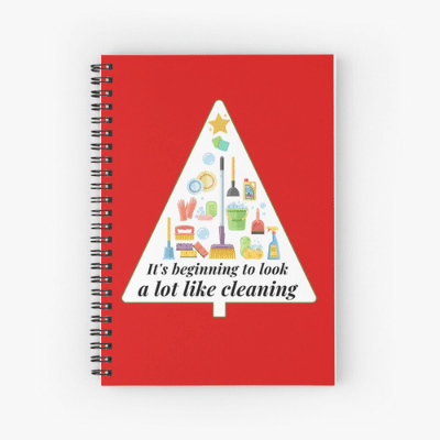 Look A Lot Like Cleaning Savvy Cleaner Funny Cleaning Gifts Spiral Notebook