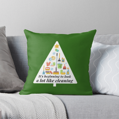 Look A Lot Like Cleaning Savvy Cleaner Funny Cleaning Gifts Throw Pillow