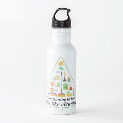 Look A Lot Like Cleaning Savvy Cleaner Funny Cleaning Gifts Water Bottle