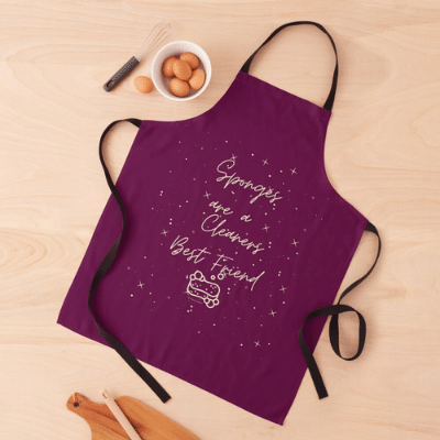Sponges Are A Cleaner's Best Friend Savvy Cleaner Funny Cleaning Gifts Apron