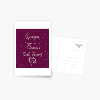 Sponges Are A Cleaner's Best Friend Savvy Cleaner Funny Cleaning Gifts Postcard