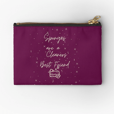 Sponges Are A Cleaner's Best Friend Savvy Cleaner Funny Cleaning Gifts Zipper Bag