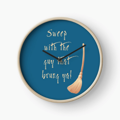 Sweep With The Guy Savvy Cleaner Funny Cleaning Gifts Clock