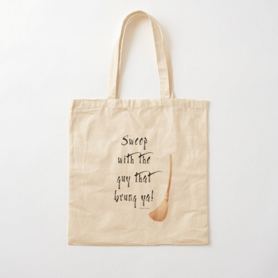 Sweep With The Guy Savvy Cleaner Funny Cleaning Gifts Cotton Tote Bag