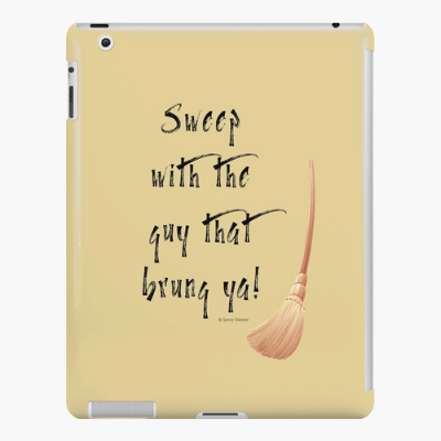 Sweep With The Guy Savvy Cleaner Funny Cleaning Gifts Ipad Case